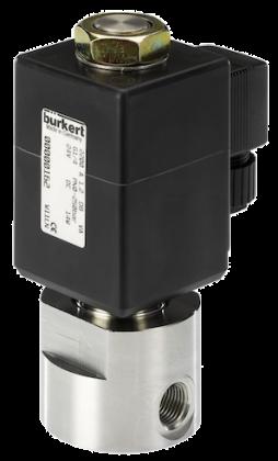 Двухходовой соленоидный клапан тип 2200 производитель Burkert (Германия),  Ду 1.2-2 мм, давление 0-250 бар (снят с производства)