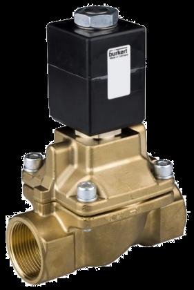 Соленоидный клапан двухходовой тип 0407 Burkert (Германия),  Ду 15-50 мм, давление 0-10 бар (снят с производства)