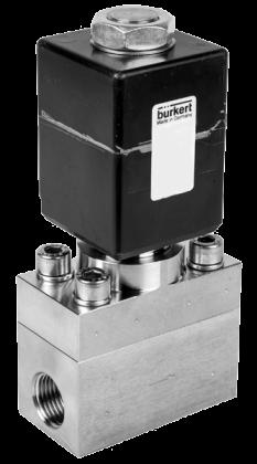 Двухходовой соленоидный клапан тип 2400 производитель Burkert (Германия),  Ду 5-12 мм, давление 0-250 бар (снят с производства)