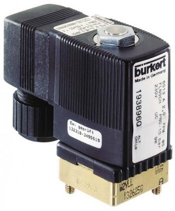 Соленоидный клапан двухходовой тип 6013 Burkert (Германия),  Ду 2-6  мм, давление 0-25 бар