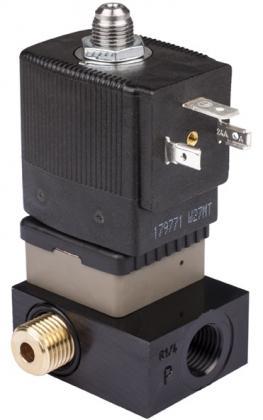 Соленоидный клапан трехходовой тип 6014 Burkert (Германия),  Ду 1,5-2,5  мм, давление 0-16 бар