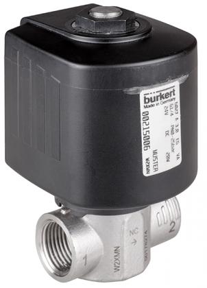 Соленоидный клапан двухходовой тип 6027 Burkert (Германия),  Ду 1-13 мм, давление 0-100 бар