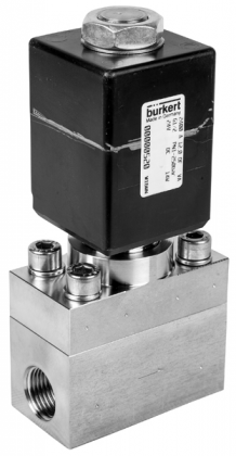 Соленоидный клапан двухходовой тип 6240 Burkert (Германия),  Ду 6-12 мм, давление 0-250 бар