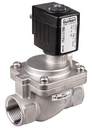 Соленоидный клапан двухходовой тип 6281 Burkert (Германия), Ду 13-40 мм, давление 0,2-16 бар
