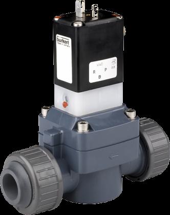 Соленоидный клапан двухходовой тип 0142 Burkert (Германия),  Ду 15-50 мм, давление 0,5-6 бар