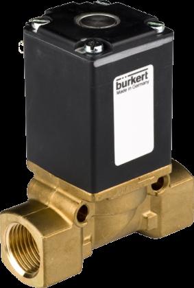 Соленоидный клапан двухходовой тип 0256 Burkert (Германия),  Ду 3-12  мм, давление 0-22 бар