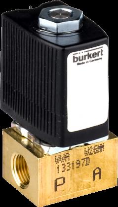 Соленоидный клапан двухходовой тип 6011 Burkert (Германия),  Ду 1,2-2,4  мм, давление 0-21 бар