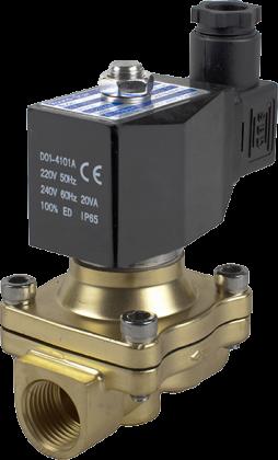 Соленоидный клапан двухходовой тип 2W Round Star (Китай),  Ду 16 мм, давление 0-10 бар