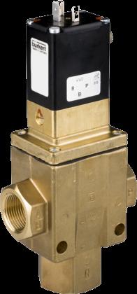 Трехходовой соленоидный клапан тип 0340 производства Burkert (Германия),  Ду 8-40 мм, давление 0,5-16 бар