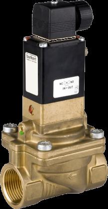 Соленоидный клапан двухходовой тип 5282 Burkert (Германия),  Ду 13-65 мм, давление 0,2-10 бар