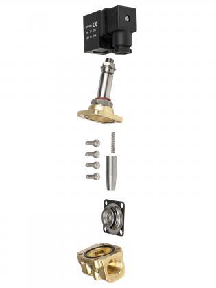 Соленоидный клапан двухходовой тип 2W-A Round Star (Китай),  Ду 10 мм, давление 0-20 бар