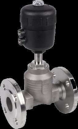 Двухходовой седельный клапан с пневмоприводом тип 2012 производитель Burkert (Германия)