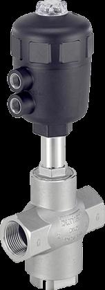 Трехходовой седельный клапан с пневмоприводом тип 2006 производитель  Burkert (Германия)