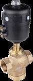 Трехходовой седельный клапан с пневмоприводом тип 2002 производитель Burkert (Германия)