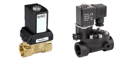 Электромагнитные клапаны для воды, нейтральных и слабоагрессивных жидкостей и газов